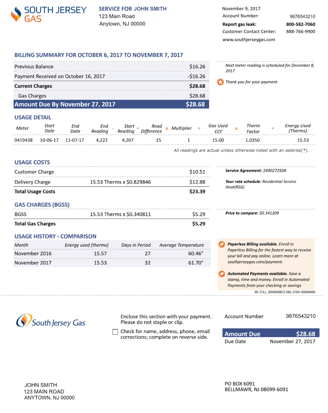 South Jersey Gas - Understand Your Bill